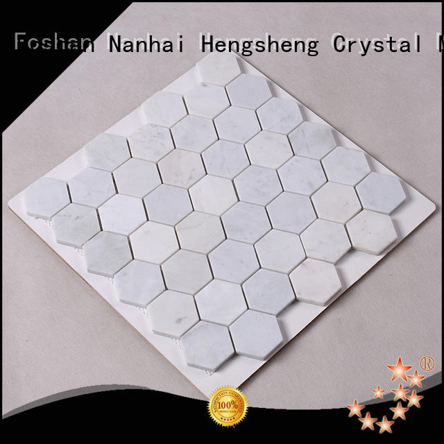 Heng Xing golden marble mosaic tile grey for bathroom
