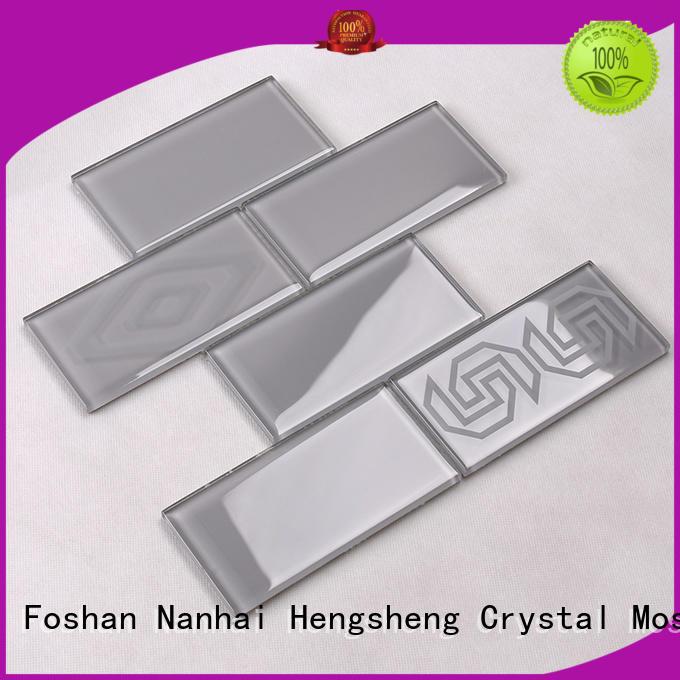 glass tiles for kitchen 3x3 tile golden Hengsheng Brand