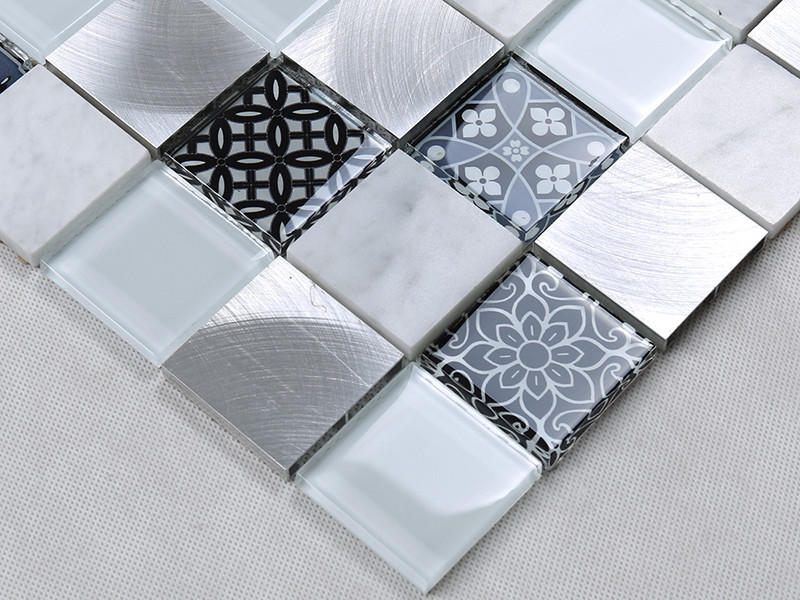 Heng Xing-High-quality Red Glass Tile | 3d Printing Square Glass Stone Metal Mosaic-1