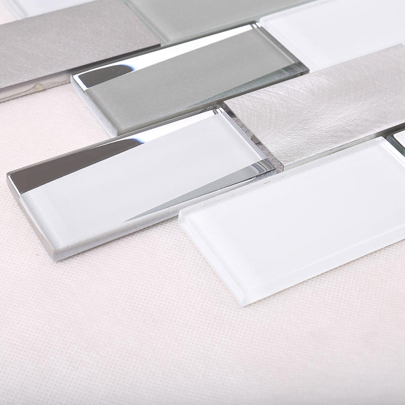 Heng Xing-Find Metallic Glass Mosaic Tile Bevel Tile -Hengsheng Glass Mosaic-2