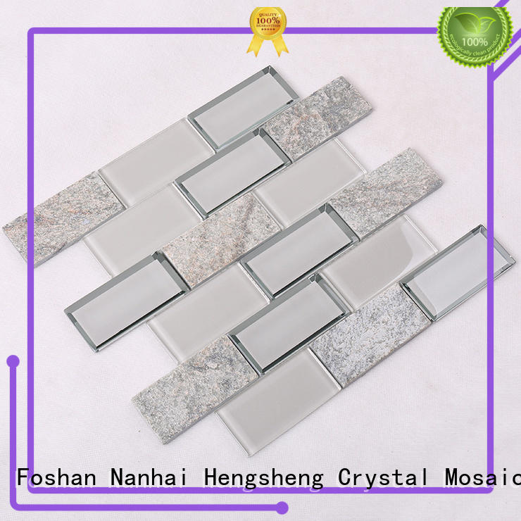light clear glass tiles resin for bathroom Heng Xing