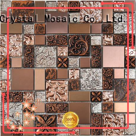 Heng Xing 3x4 black glass tile backsplash hdt04 for bathroom