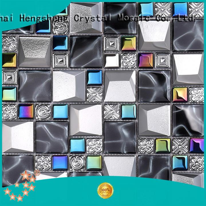 crystal herringbone tile factory price for living room Heng Xing