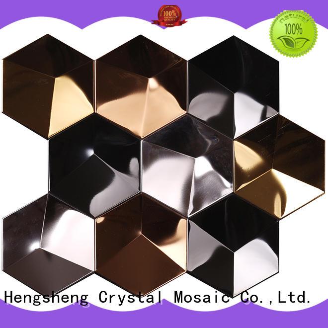 wall metallic kitchen tiles hexagon for kitchen Heng Xing