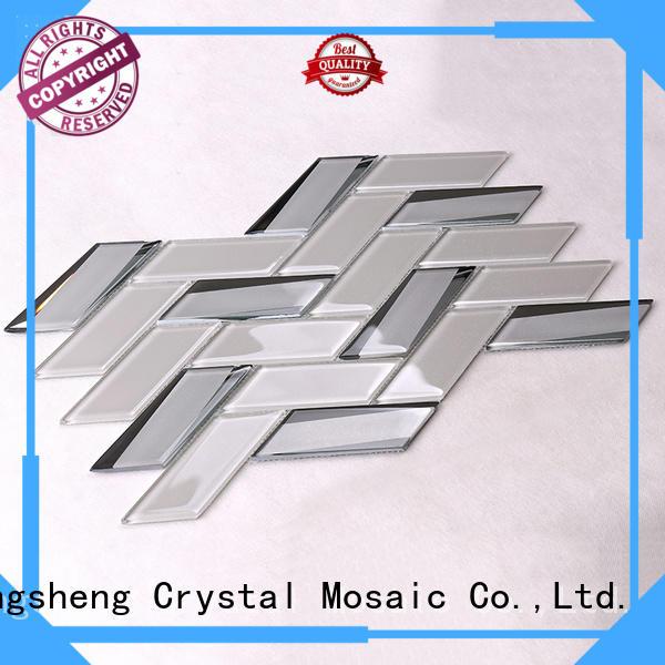 home backsplash metal OEM glass mosaic tile Heng Xing