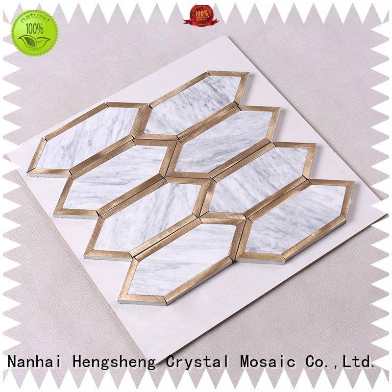 white 2x2 flower metal Heng Xing Brand stone mosaic supplier