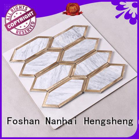 golden flower OEM stone mosaic Hengsheng
