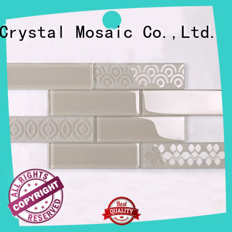 Heng Xing New brown glass tile supplier for villa