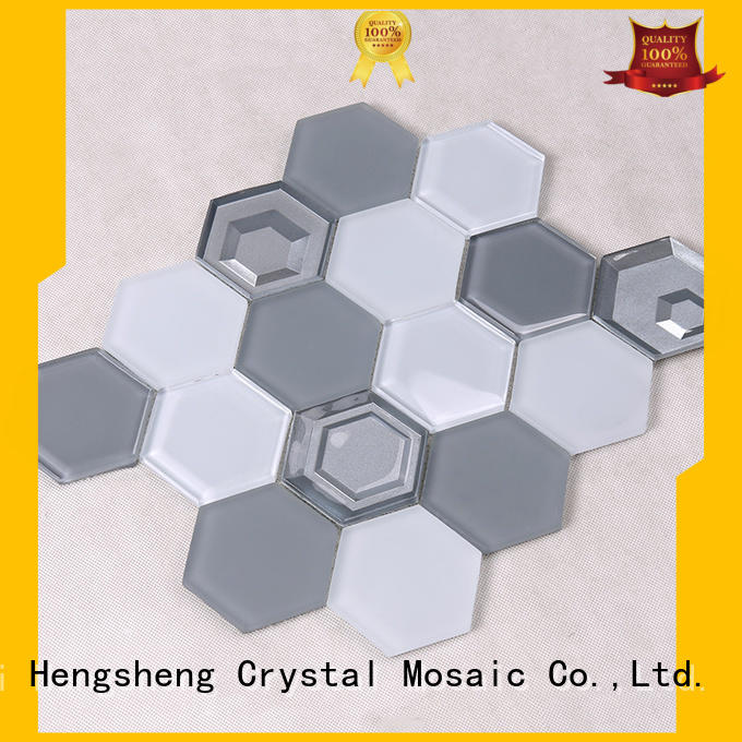 Hengsheng Brand glass metal glass tiles for kitchen decoration supplier