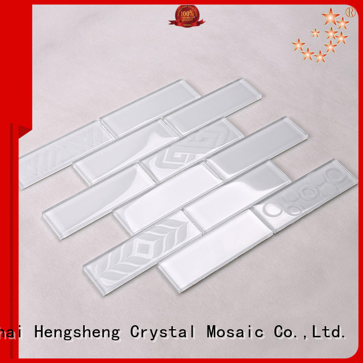 metallic oceanside glass tile resin for living room Heng Xing
