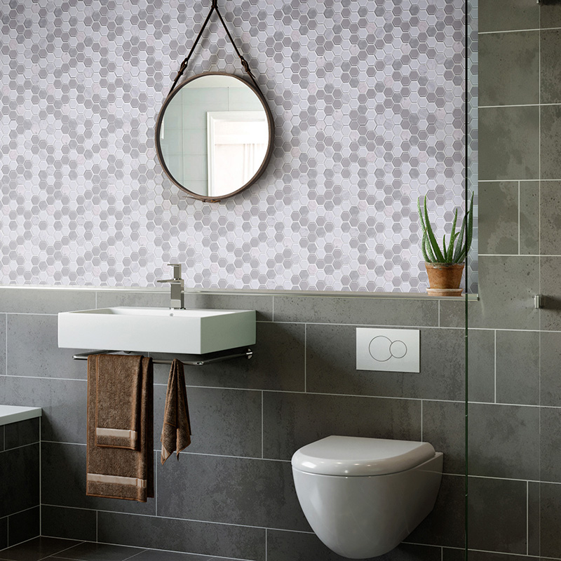 beautiful carrara herringbone Carrara design for bathroom-9
