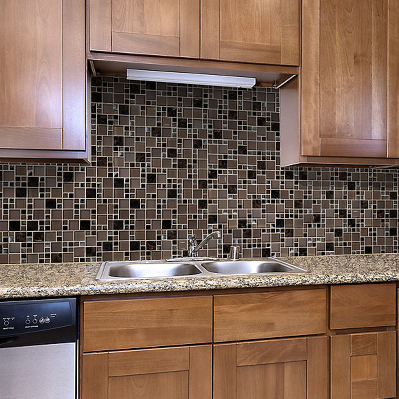 Heng Xing-Stainless Steel Backsplash Tiles Aluminum Mosaic Tile - Hengsheng-7