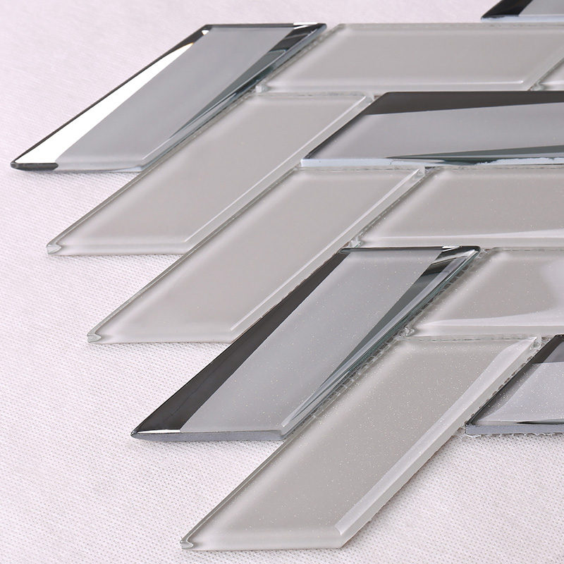news-Heng Xing-Heng Xing beveled clear glass tiles decor for living room-img