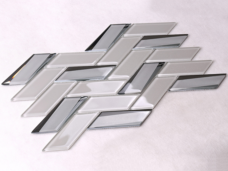 Heng Xing beveled clear glass tiles decor for living room-4