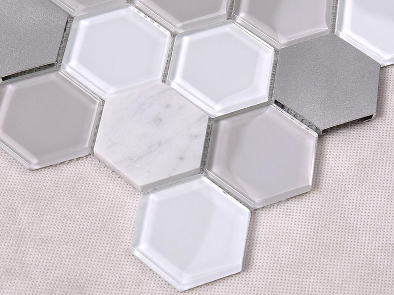 decoration white glass tile for kitchen