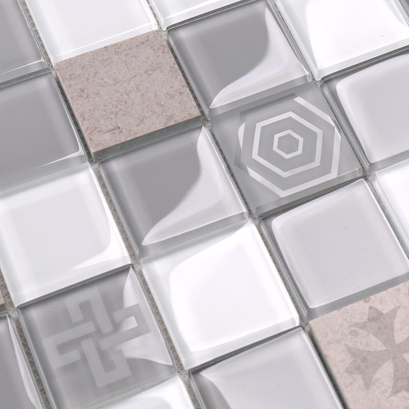 Heng Xing-white glass tile | Glass Mosaic Tile | Heng Xing