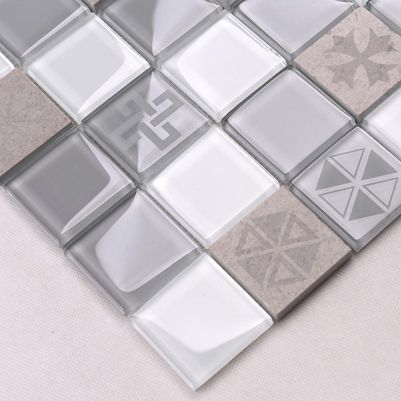 Heng Xing-white glass tile | Glass Mosaic Tile | Heng Xing-1