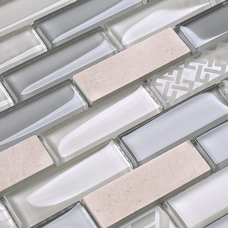 Hot beige glass tiles for kitchen home Heng Xing Brand