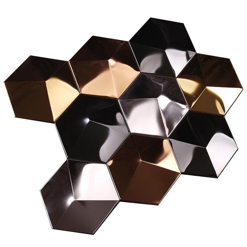 news-Heng Xing-Heng Xing hexagon metallic subway tile manufacturer for living room-img