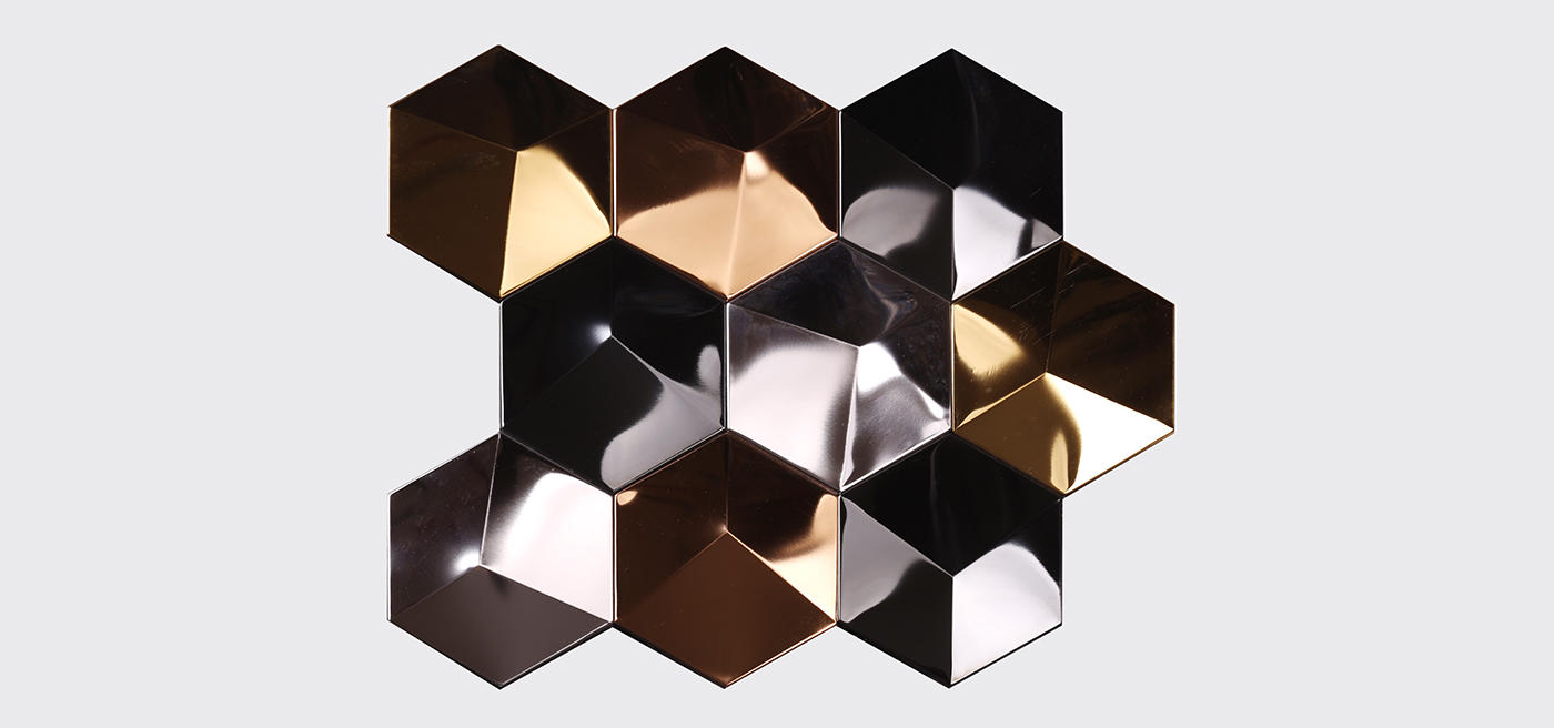 Heng Xing metallic kitchen wall tiles black