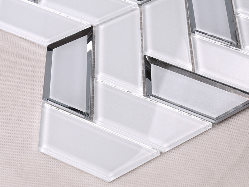 Heng Xing-Best Glass Wall Tiles New White Trapezoid Kitchen Wall Glass Tile-1