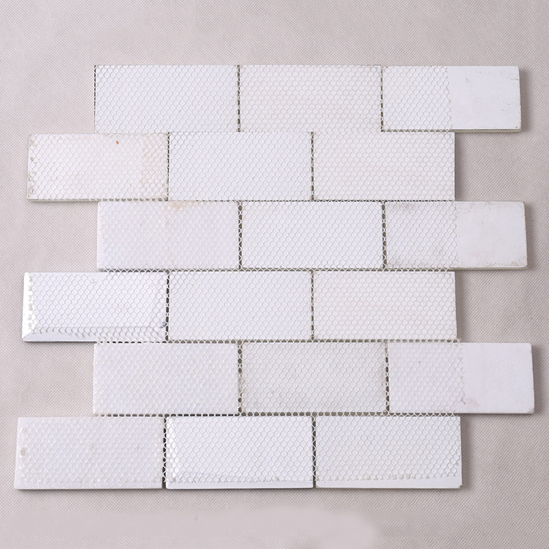 Heng Xing-Pool Tile, White Square Beveling Glass Mosaic Bathroom Wall Tile-4