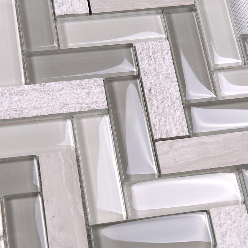 video-beveled kitchen backsplash beige personalized for living room-Heng Xing-img-1