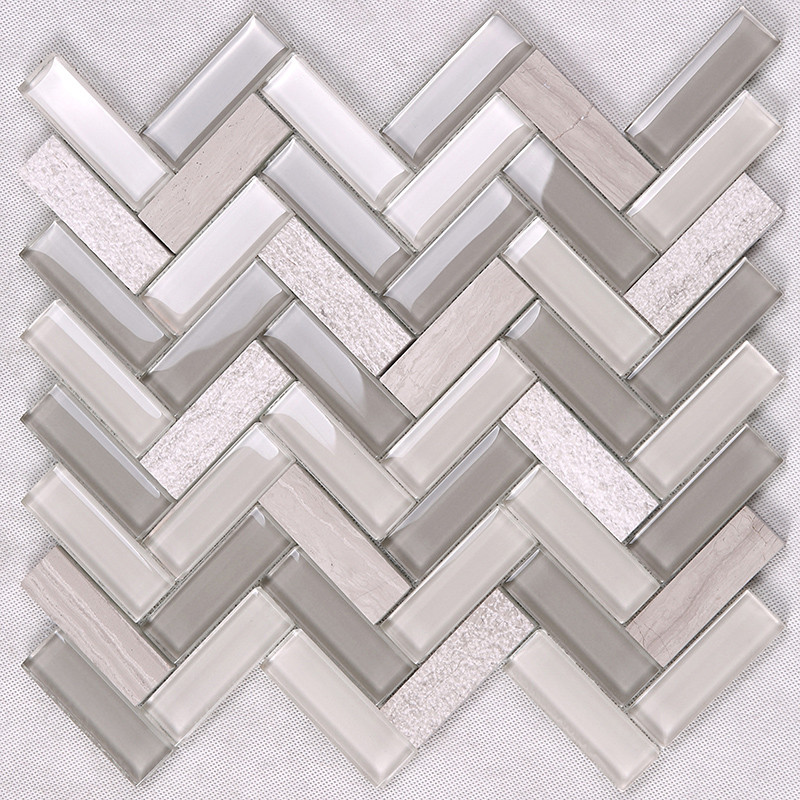 Heng Xing-Find Kitchen Backsplash Tile Herringbone Kitchen Glass Stone Mosaic Tile-3