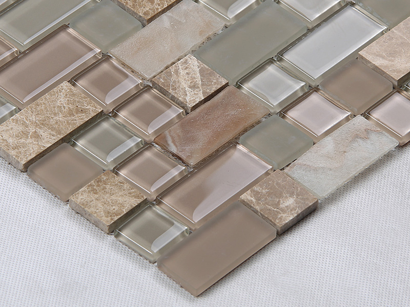 Heng Xing-Find Glass Pool Tile Square Tans Glass Mix Marble Mosaic Tile-1