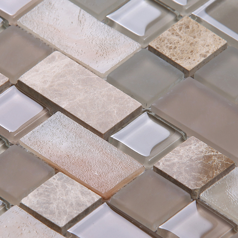 Heng Xing-Find Glass Pool Tile Square Tans Glass Mix Marble Mosaic Tile-2