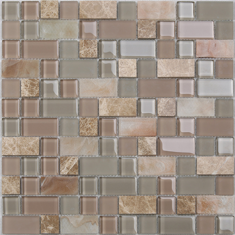 Heng Xing-Find Glass Pool Tile Square Tans Glass Mix Marble Mosaic Tile-3