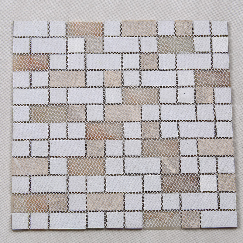 Heng Xing-Find Glass Pool Tile Square Tans Glass Mix Marble Mosaic Tile-4