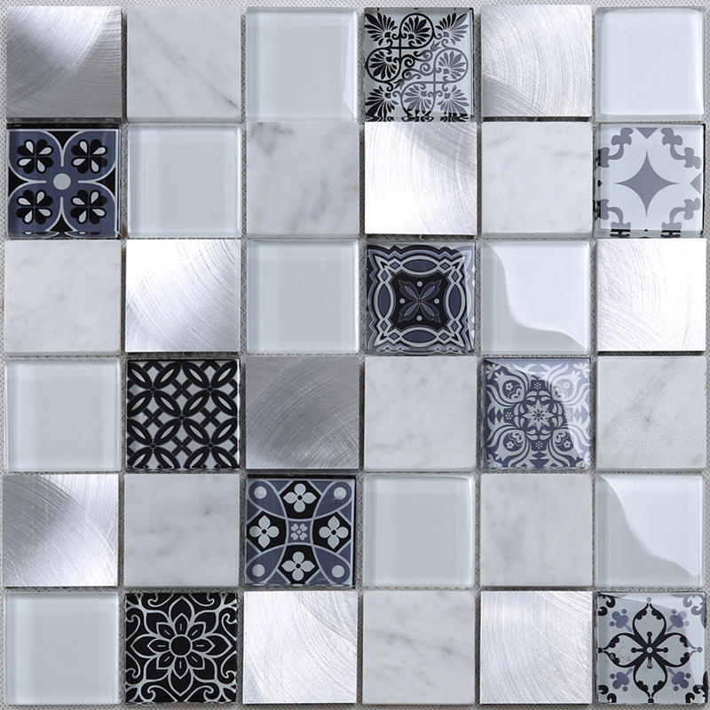 beveled glass wall tiles for kitchen factory price for villa