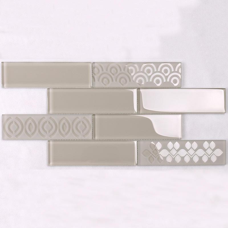 hdt04 glass subway tile backsplash wholesale for bathroom Heng Xing