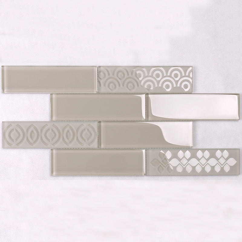 decoration glass metal tile hdt04 for villa Heng Xing