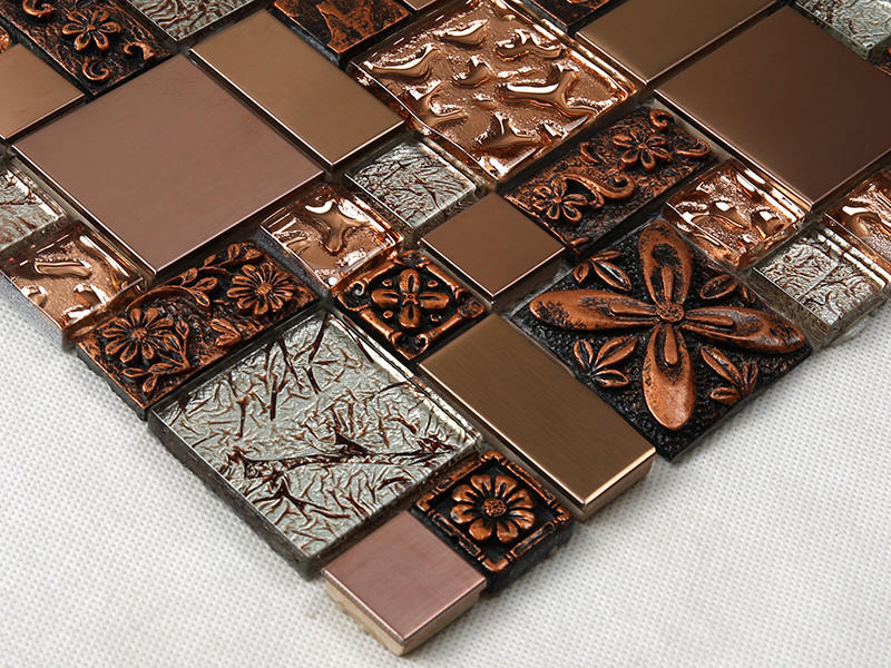 Heng Xing alloy red glass tile personalized for kitchen
