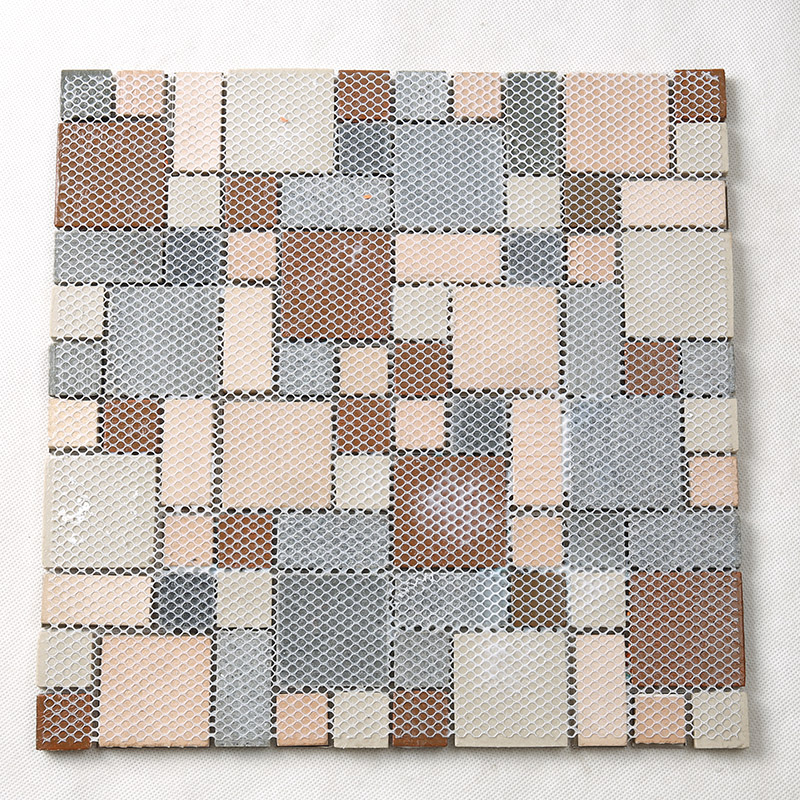 Heng Xing-Rose Gold Resin Metallic Glass Mosaic Tile Hxl09 - Hengsheng-4