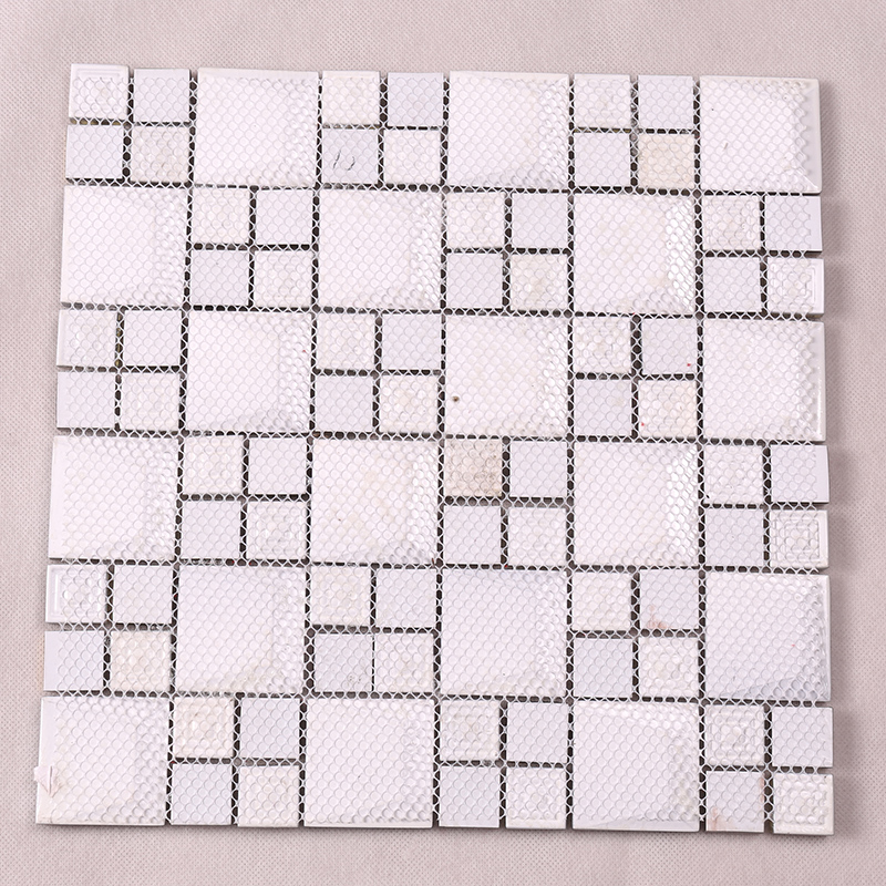 Heng Xing-High-quality Glass Wall Tiles | Golden 3d Beveled Electroplated Glass Mosaic-1
