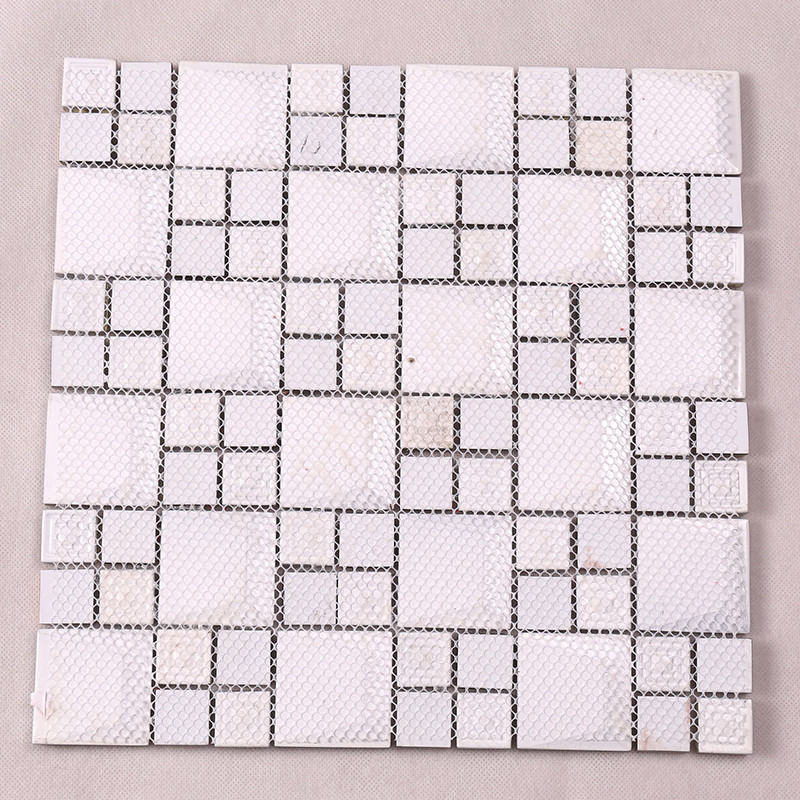 Heng Xing-High-quality Glass Wall Tiles | Golden 3d Beveled Electroplated Glass Mosaic-4