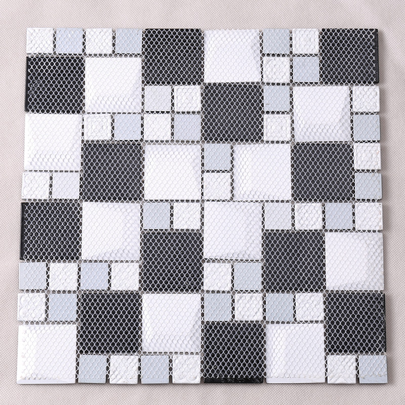 Heng Xing-Bevel Tile | Iridescent Grey Beveled Cold Spray Glass Mosaic-4