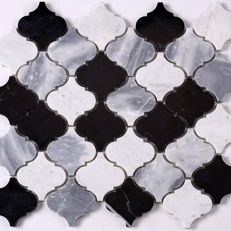 carrara herringbone mosaic for villa Heng Xing