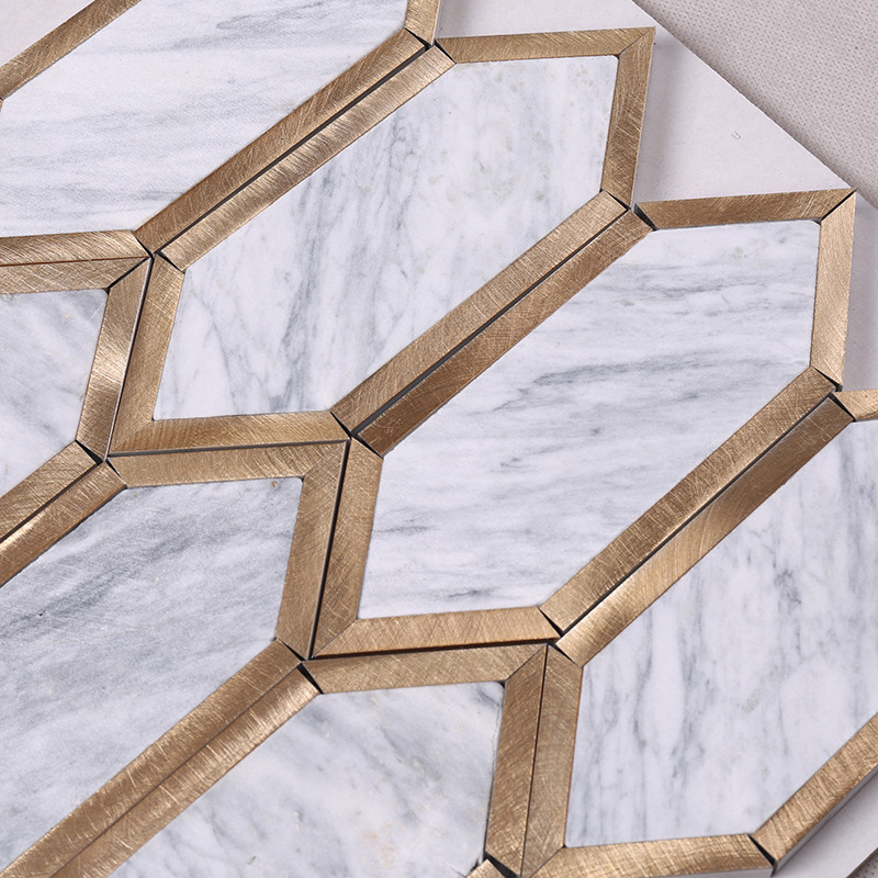 2x2 stone mosaic tile metal with good price for kitchen-5