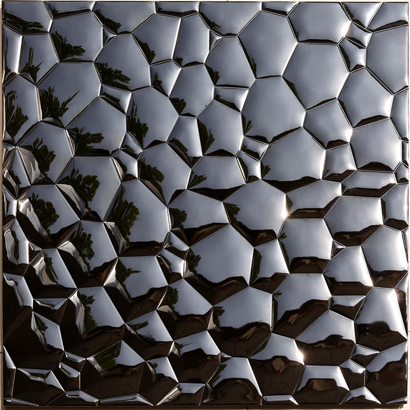 3D Black Water Cube Stainless Steel Metal Mosaic for bedroom  HSW18181