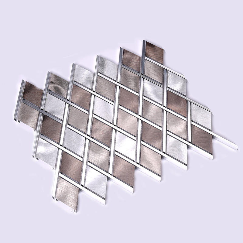 Heng Xing-Diamond Copper Aluminum Alloy Metal Mosaic Wall Tile HLC16-1