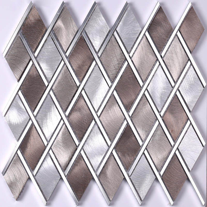 Diamond Copper Aluminum Alloy Metal Mosaic Wall Tile  HLC16