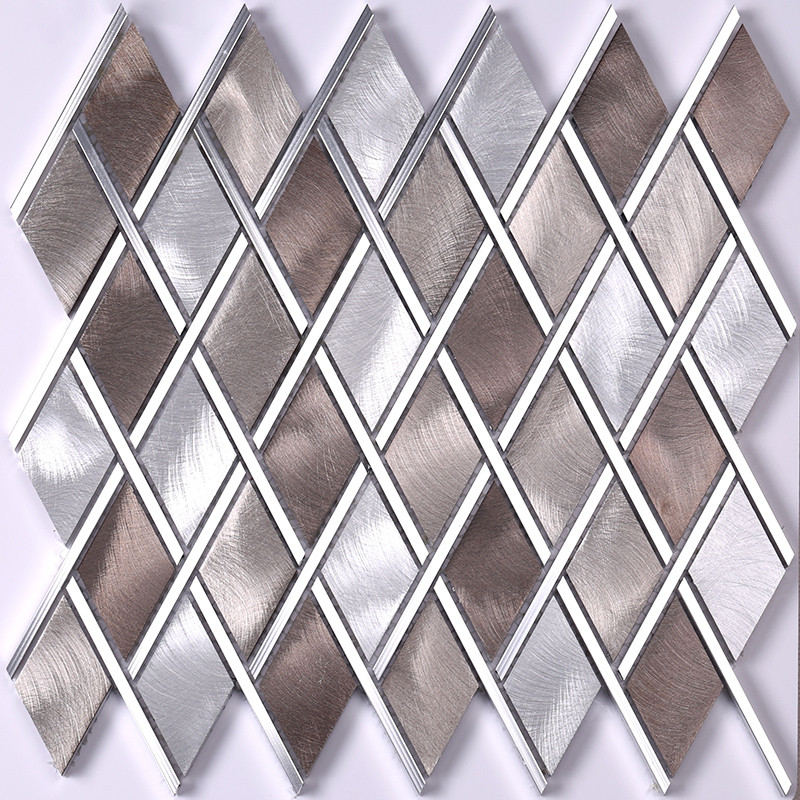 Heng Xing-Metallic Floor Tile Copper Mosaic Tile - Hengsheng Glass Mosaic-3