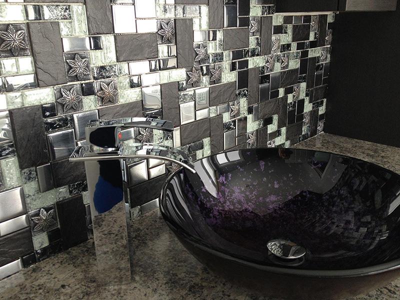 TC17 - 3d Resin Glass Bathroom Tile