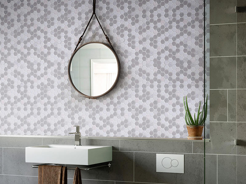HSL41 Hexagon Bathroom Mosaic