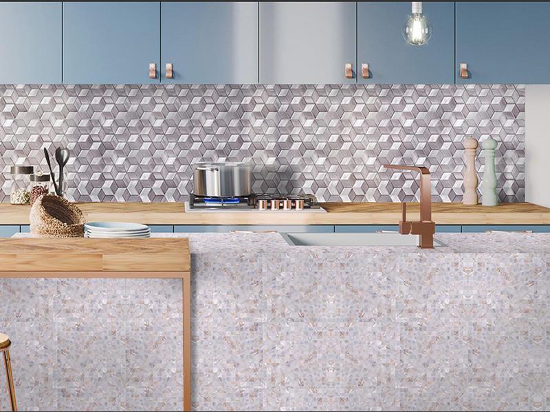 HLC23 - 3d Aluminum Alloy Kicthen Mosaic