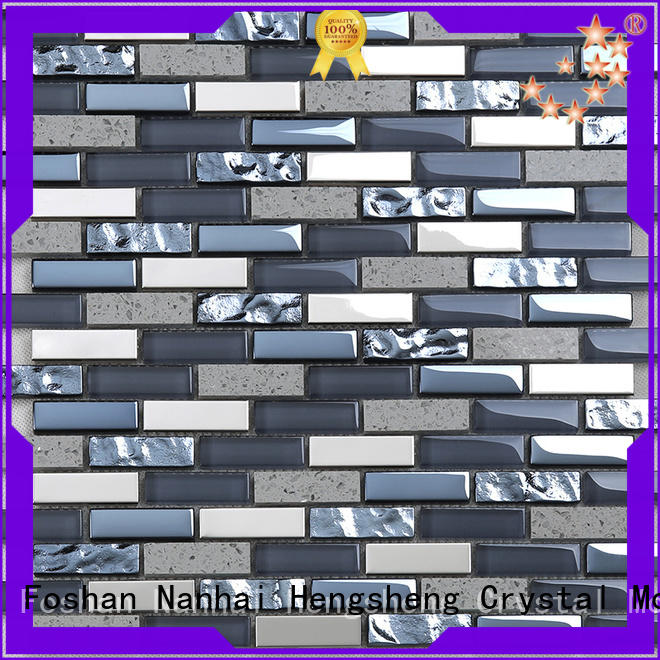 Heng Xing beveled glass metal backsplash strip for villa